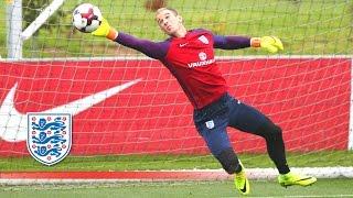 Super Agility Goalkeeper Test - Hart/Heaton/McCarthy prepare for Slovakia | Inside Training
