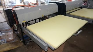 Penumatic Large Format size Double Stations Heat Press Transfer machine, Sublimation Printing Machine for Sport Wear Contact: Email: cnheattransfer@cnheattra...