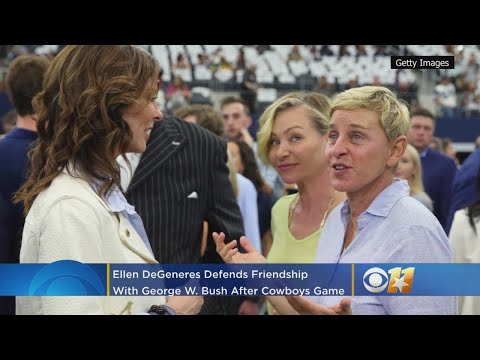 Ellen DeGeneres Defends Friendship With George W. Bush After Dallas Cowboys Visit