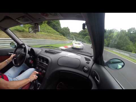 Alfa Romeo 156 2.5 210 Nurburgring 04/08/2016 3° lap (видео)
