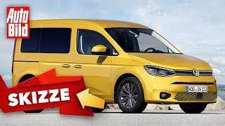 VW Caddy (2020): Neuvorstellung - Skizze - Info by Auto Bild