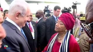 ראש הממשלה בנימין נתניהו נוחת במונרוביה, בירת ליבריה, לרגל השתתפותו לכינוס ראשי מדינות מערב אפריקה - ECOWAS,...