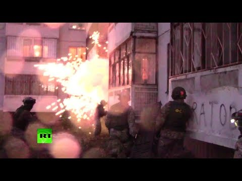 Видео задержания участников запрещённого движения «Артподготовка»