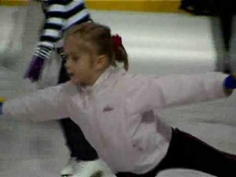 Katya Grigorieva  (age 6). Figure skating on ice in St.-Petersburg, Russia.