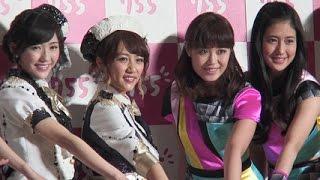 AKB48、E-girls/新世代トークアプリ 「755」 CM発表会