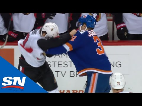Senators, Islanders Engage In Three Fights In Last 30 Seconds of Game