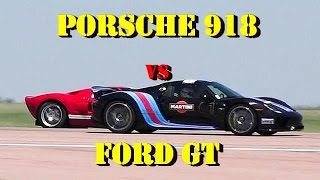 887 HP Porsche 918 vs Ford GT - 1/2 mile Drag Race Pikes Peak 2016 - Road Test TV by Road Test TV