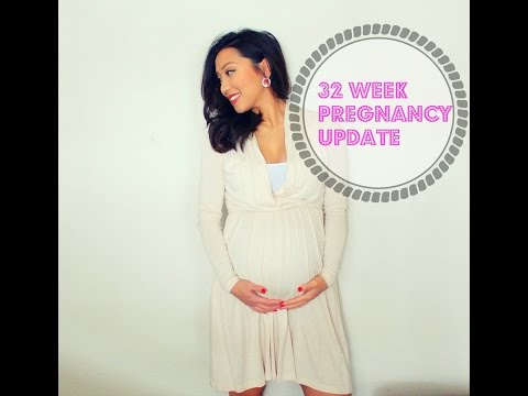 32 Week Pregnancy Update | Doc Appt, Weight Gain + Belly Shot