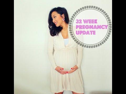 32 Week Pregnancy Update | Doc Appt, Weight Gain + Belly Shot