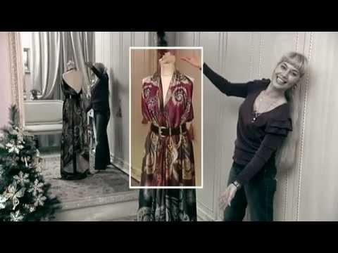 Платье из платков видео