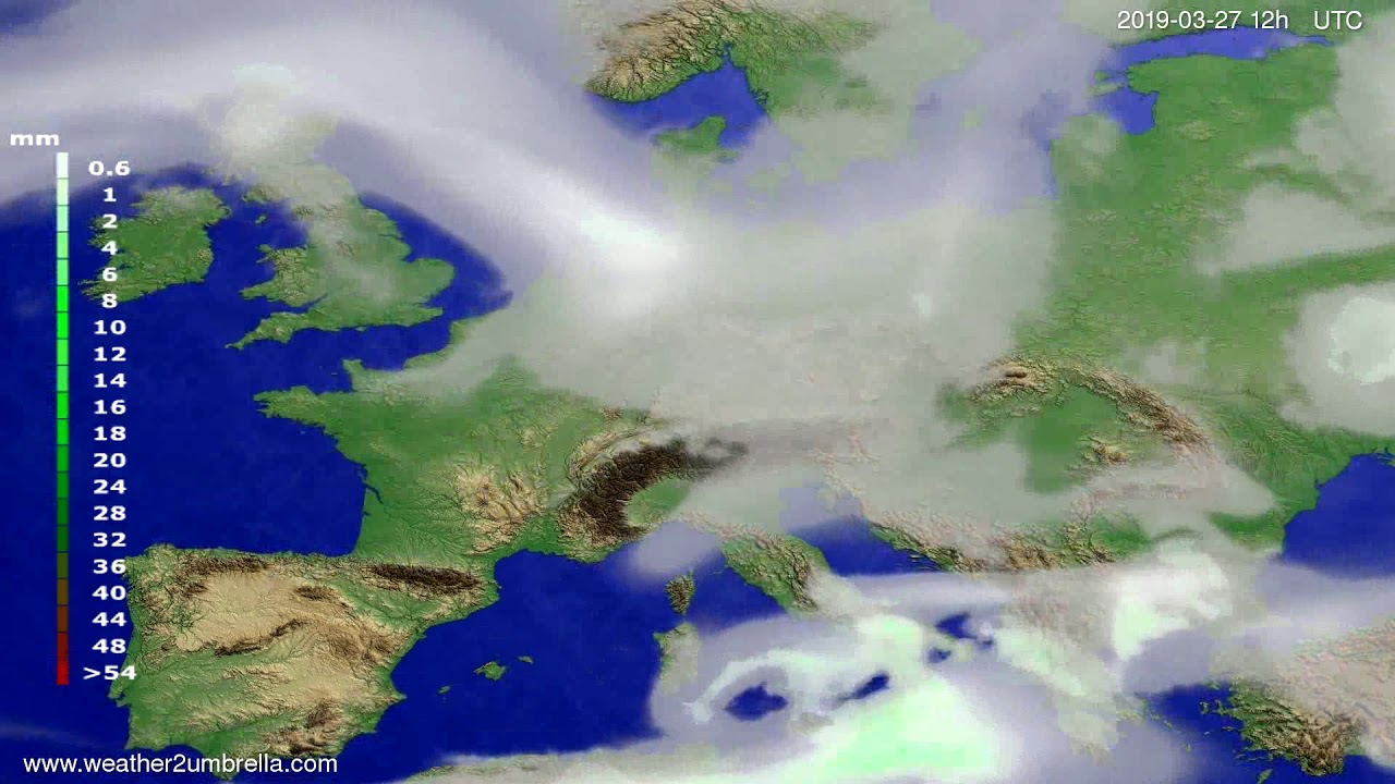 #Weather_Forecast// Precipitation forecast Europe 2019-03-25