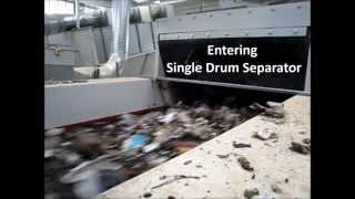 Nihot Recycling SDS 1200 in operation on MSW