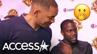 Video Watch Will Smith Crash Kevin Hart's CinemaCon Interview! | Access Hollywood MP3, 3GP, MP4, WEBM, AVI, FLV April 2018