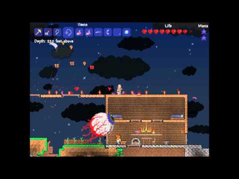 preview-Let\'s Play Terraria! - 002 - First boss fight attempt, Eye of Cthulhu (ctye85)