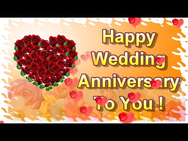 Happy Wedding Anniversary To You Online Greeting Card Ecard