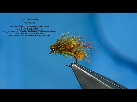Tying The Golden Olive Hedgehog By Davie McPhail