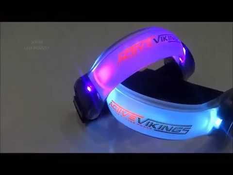 ActiveVikings Led Armband Sicherheitslicht für Jogger, Wanderer, Kletterer, Radfahrer