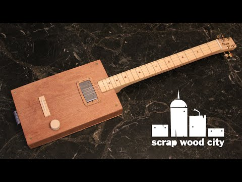 How to make a cigar box style electric guitar