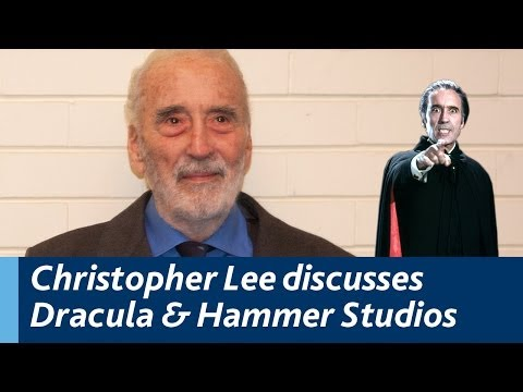 Christopher Lee discusses Dracula and Hammer Studios...