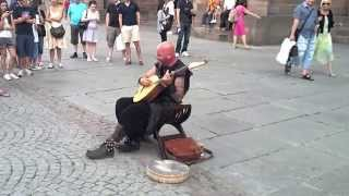 This Street Performer In Strasbourg Has A Very Unique Voice Talent!