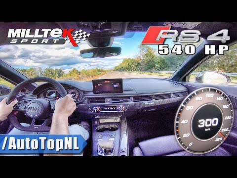 AUDI RS4 B9 540HP 300km/h AUTOBAHN (NO SPEED LIMIT) by AutoTopNL