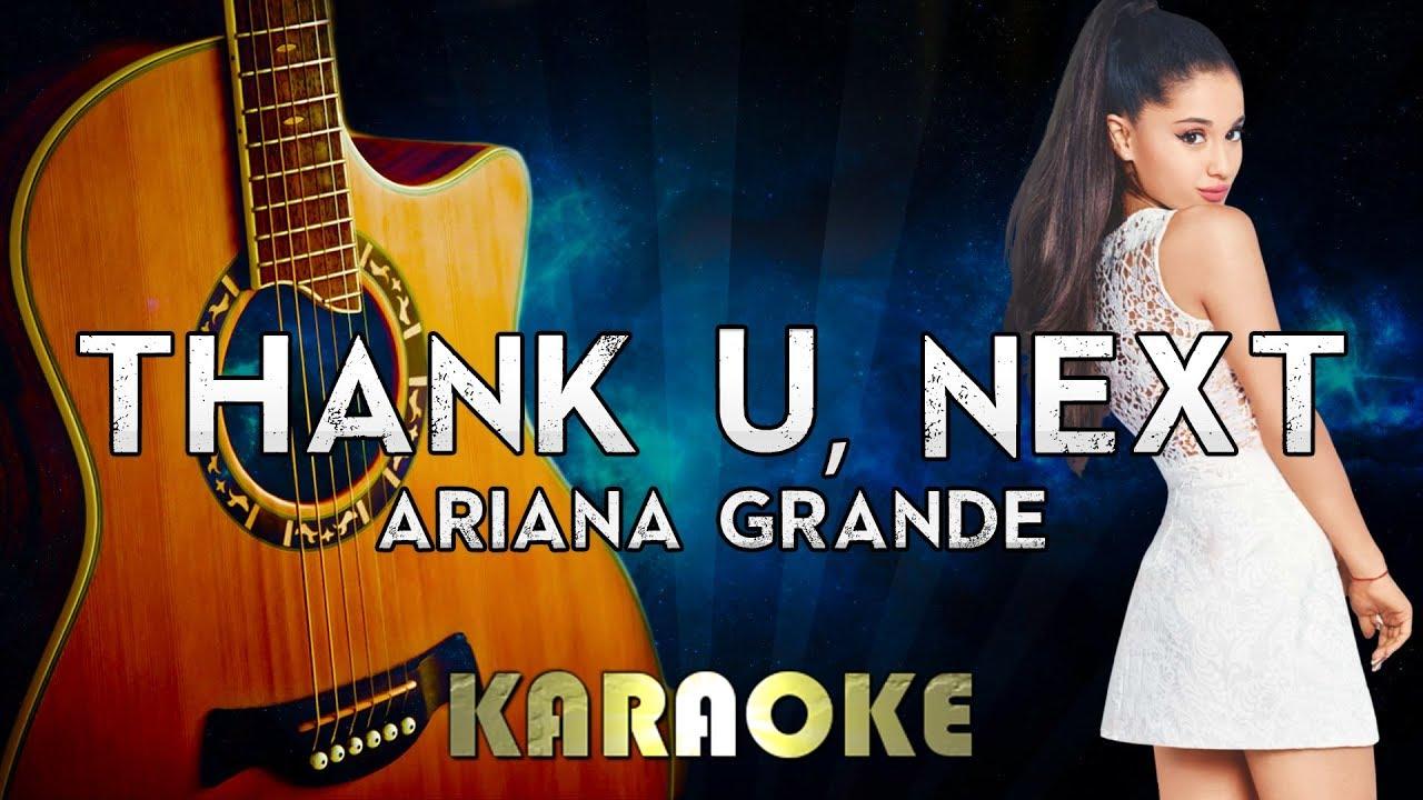 Ariana Grande – thank u, next (Acoustic Guitar Karaoke Instrumental)