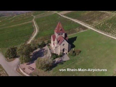 Rundflug Kreuzkapelle am Wißberg in Gau-Bickelheim, Rheinhessen