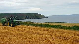 John Deere 6920s and New Holland TM165 baling straw with Mchale Fusions 2Filmed near Carrigaline and Rocky Bay on the 30/07/2016.Thanks to all involved Facebook page: https://www.facebook.com/agrivideoscork