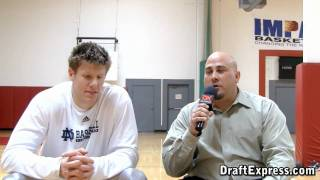 DraftExpress Exclusive: Luke Harangody Pre-Draft Interview & Workout Footage