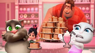 Pancake Milkshake VS talking TOM talking ANGELA [ UPDATED ]