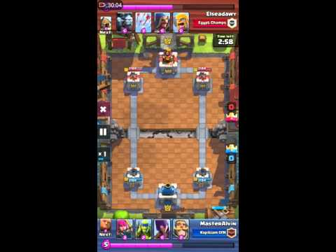 Clash Royal - How to stop a house deck (Recorded with Huawei Mate 8)