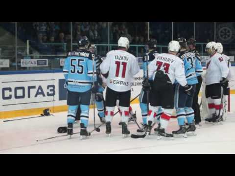 Бои КХЛ: Фефелов VS Семенов/ KHL Fight: Fefelov VS Semenov (видео)
