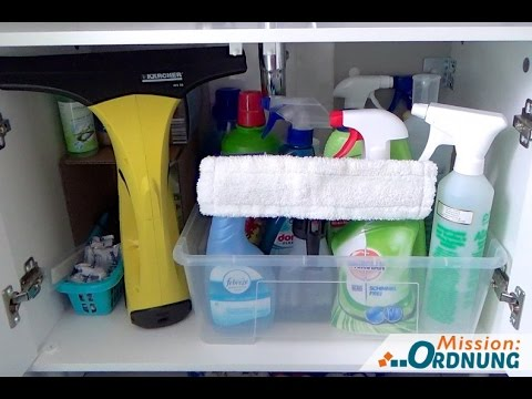 Ordnung im Badezimmer - Waschbeckenunterschrank