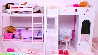 Video Baby Doll Bunk Bed bedroom house toy play doll wardrobe closet and dress up dolls MP3, 3GP, MP4, WEBM, AVI, FLV Oktober 2017
