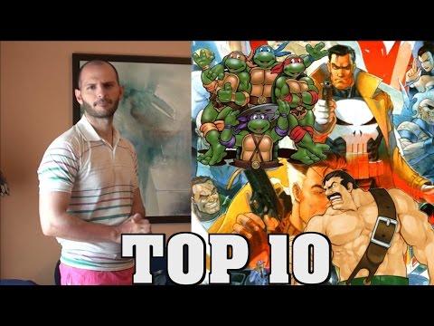 TOP 10 - ¡¡¡MEJORES JUEGOS ARCADE BEAT ´ EM UP!!! - Sasel - Palos - Peleas - Español - Máquinas