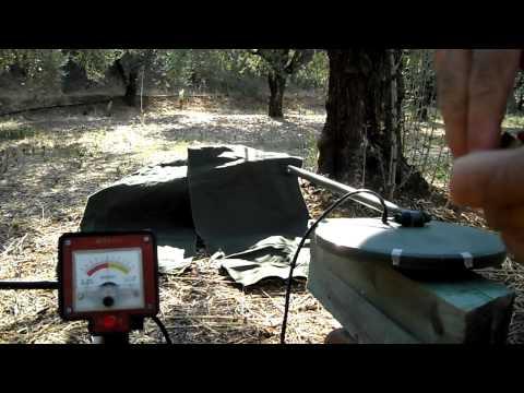Disc test on VLF metal detector