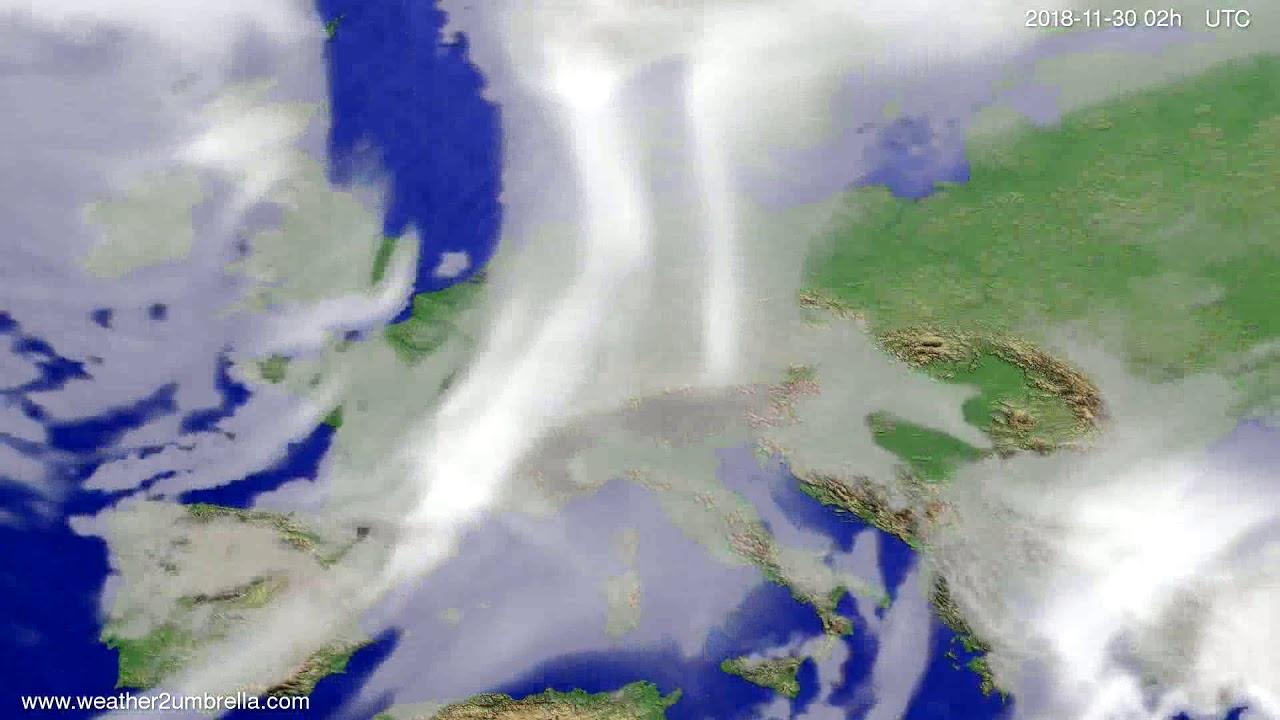 Cloud forecast Europe 2018-11-26