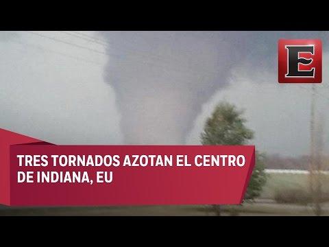 Tres tornados golpean Indiana, EU