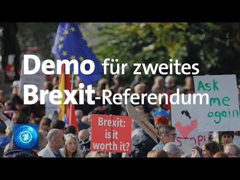 London: Zehntausende fordern zweites Brexit-Referendum