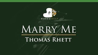 Video Thomas Rhett - Marry Me - LOWER Key (Piano Karaoke / Sing Along) download in MP3, 3GP, MP4, WEBM, AVI, FLV January 2017