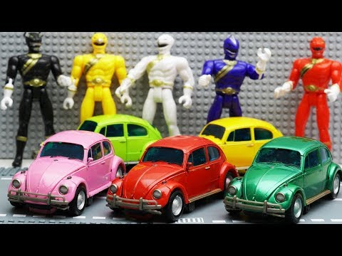 Transformers Stop Motion - Bumblebee, Barricade, Power Rangers Film Repaint Beetle Car Robot Toys