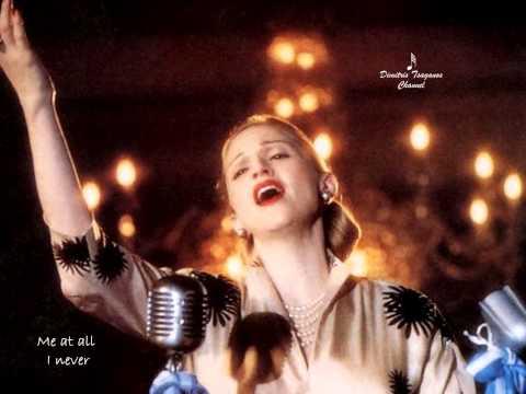 √♥ Don't Cry For Me Argentina √ Madonna √ Lyrics
