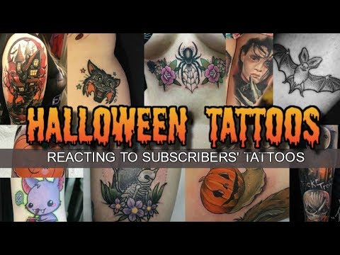 HALLOWEEN TATTOOS - Reacting To Subscribers' Spooky Tattoos