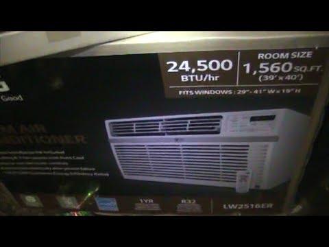 Installing A Home Window LG Air Conditioner - 220V - 24,500 BTU -  LW2516ER