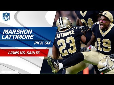Video: Marshon Lattimore's Huge Pick 6 Off Stafford's Tipped Pass! | Lions vs. Saints | NFL Wk 6 Highlights