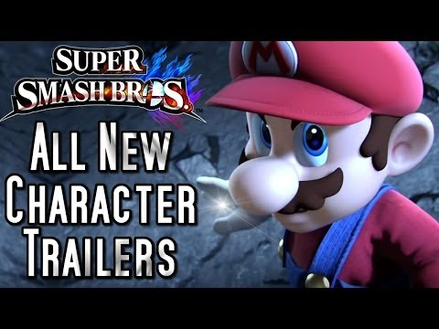 character - CHALLENGERS APPROACHING! See all the new Character Trailers for Super Smash Bros (Wii U and 3DS)! The new roster is shaping up to be an amazing clash of all-...