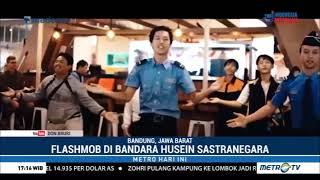 Kejutan ! Flashmob di Bandara Mengantarkan Kepulangan para Atlet Mancanegara