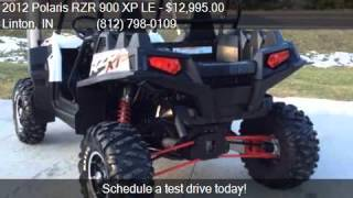 9. 2012 Polaris RZR 900 XP LE  for sale in Linton, IN 47441 at