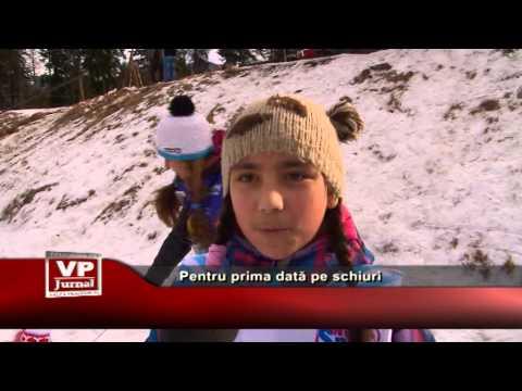 Pentru prima dată pe schiuri