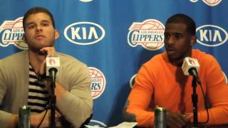 Blake Griffin and Chris Paul Post Game 12.3.14